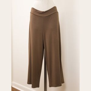 Flax sport activewear pants Large brown NWT